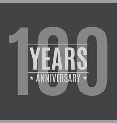 template logo 100 years anniversary vector image