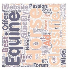 The Benefits of Reliable Equine Websites text vector