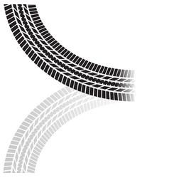 tire track corner vector image