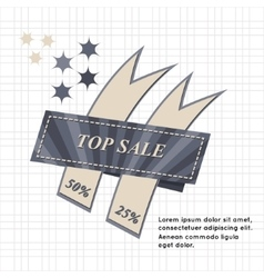 Top Sale paper banner Sale background Big sale vector