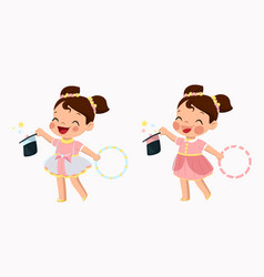 two girlscute little girl in vector image