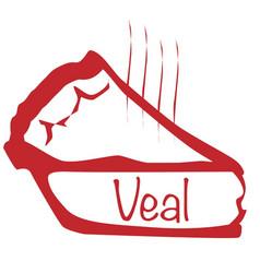 Warm veal pie vector