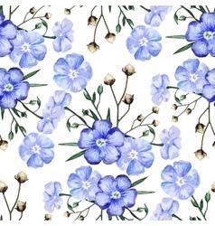 Watercolor linen pattern vector image