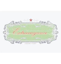 grunge floral label vector image vector image