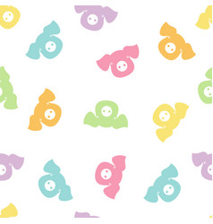 seamless pattern with color pigs vector image vector image