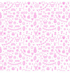 background for cute little boys and girls hand vector image vector image