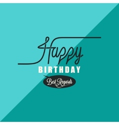 birthday vintage background vector image vector image