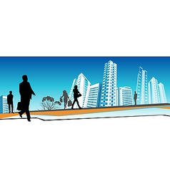 Business people walking vector image