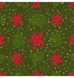 Christmas and New Year vintage seamless pattern vector image vector image