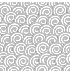 Seamless pattern with stylized clouds vector image