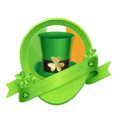 Sticker Green Cylinder St Patricks Day vector image