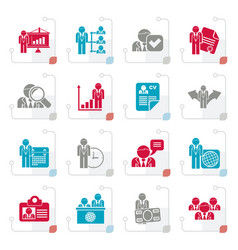 stylized human resource and employment icons vector image