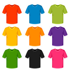 colored t-shirts templates set of promotional and vector image vector image