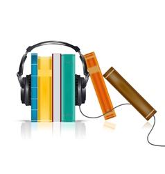 audio books concept vector image vector image