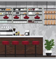 coffe shop retro vector image vector image