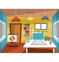 Empty Office Room Studying Room Cartoon vector image vector image