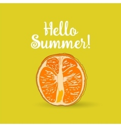 Hello Summer orange vector image