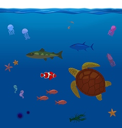Underwater Inhabitants Sea Life Part 1 vector image vector image