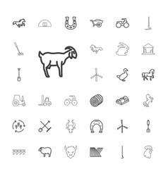 33 farm icons vector