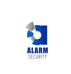 alarm security company letter a icon vector image