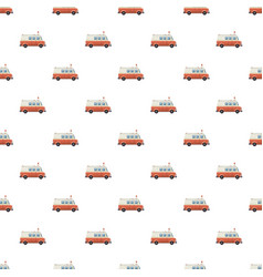 Ambulance car pattern vector