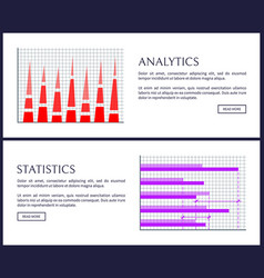 analytics statistics pages set vector image