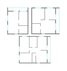 apartment plan set vector image