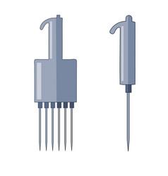 Automatic pipette set vector