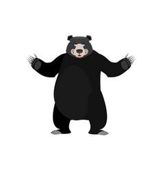 baribal happy emoji american black bear merryl vector image
