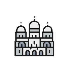 basilica sacred heart landmark paris vector image