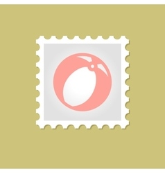 Beach Ball stamp vector