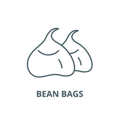 bean bags line icon bean bags outline vector image