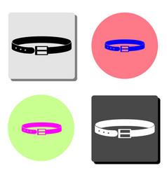 belt flat icon vector image