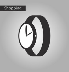 Black and white style icon wrist watch vector
