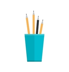 Blue Glass with Pencils vector