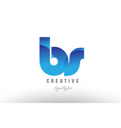 Blue gradient bs b s alphabet letter logo vector