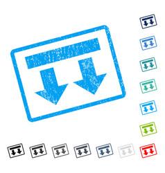 Bring down icon rubber watermark vector