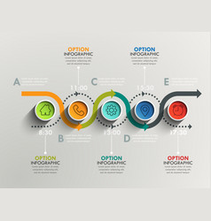 business circle timeline banner modern business vector image