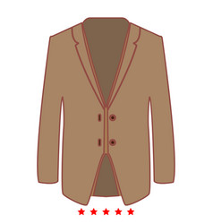 business suit icon flat style vector image