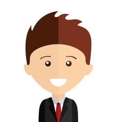 businessman man smile icon vector image