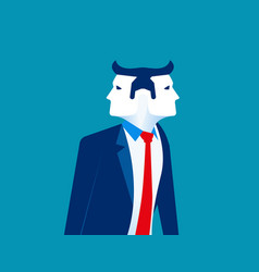 Businessman two face concept business vector