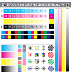 calibration printing crop marks cmyk color test vector image