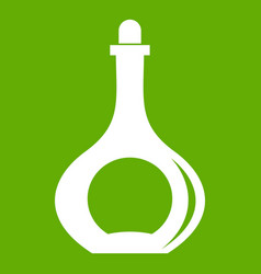 carafe icon green vector image