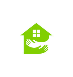 care house logo icon design vector image