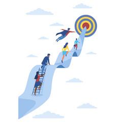 Career ladder or leadership concept vector