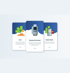 cash app and mobile wallet concepts vector image