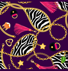 chains zebra pattern vector image