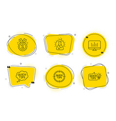chemistry lab quick tips and approved icons set vector image