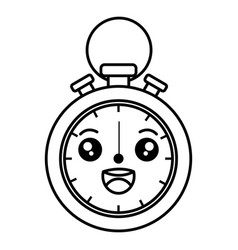 chronometer measure kawaii character vector image