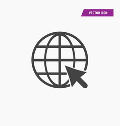 Click to go to website or internet line art icon vector